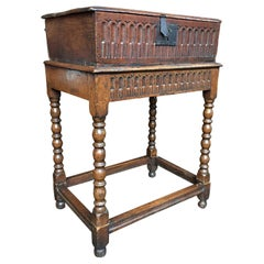 19th Century Jacobean Revival Chest or Pedestal Table