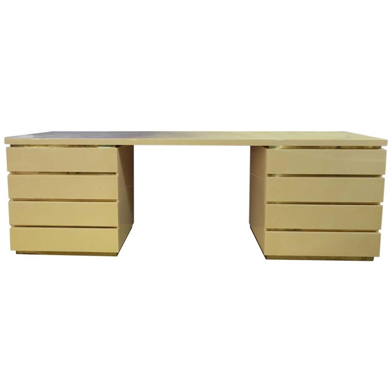Console Table or Desk by Jean Claude Mahey for Romeo, 1970