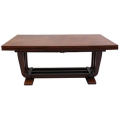 Fine French Art Deco Rosewood Dining Table by Maxime Old