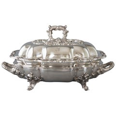 William IV Silver Entree Dish and Warmer Sheffield, 1832