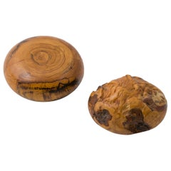 Melvin Lindquist Sculptural Handcrafted Wood Paperweights, USA 1970s