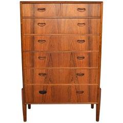 Atomic Midcentury Rosewood Highboy Dresser
