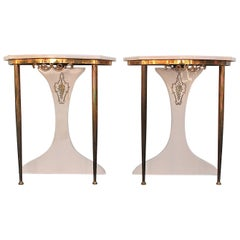Pair of 1970s Fornasetti Style Nightstands, Italy