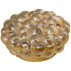 Amber Bubble Ceiling Light by Helena Tynell, circa 1960s