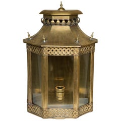 Large Brass mid 20th Century Moroccan Wall Lantern