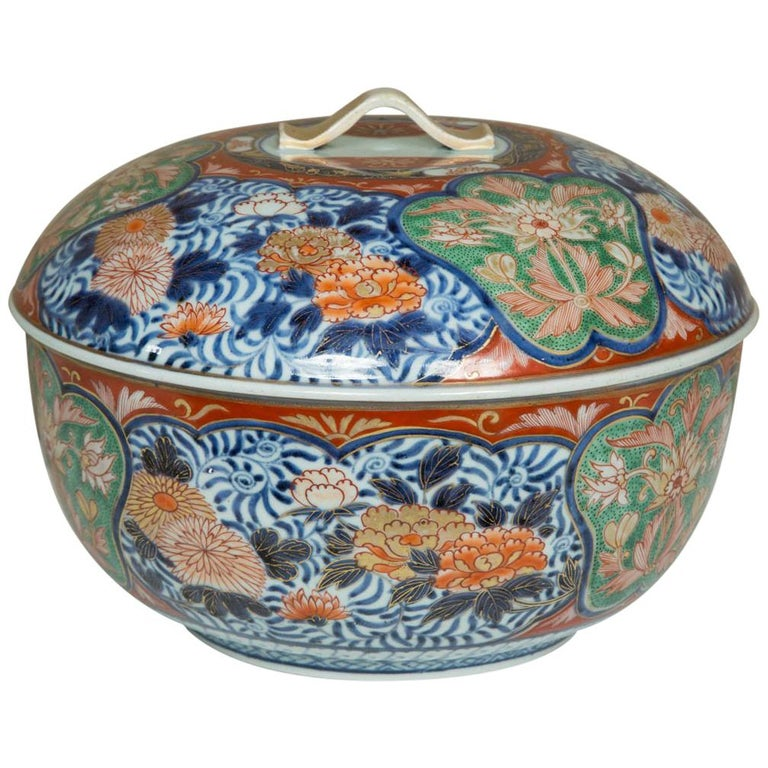 Late 18th Century Japanese Imari Lidded Bowl