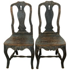Pair of 18th Century Rococo Period Chairs
