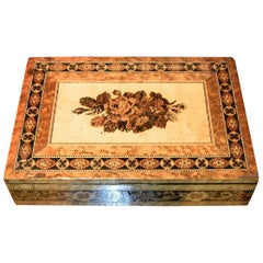 19th Century Tunbridgeware Tabletop Stationary Box, Micro Mosaic