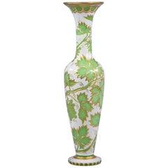 Bohemian Overlay Glass Vase, circa 1875