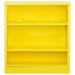 1960s Steel Bookcase in Yellow, Custom Refinished to Order