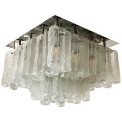 Large Rare Kalmar Granada Flush Mount Chandelier