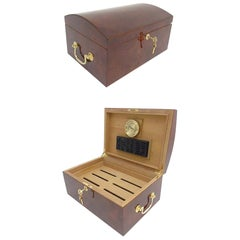 Late 20th Century Semi-Domed Lacquered Walnut Cigar Humidor