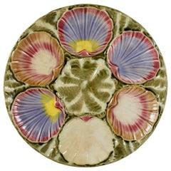 English Wedgwood Majolica Argenta Ocean Pattern Oyster Plate