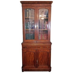 19th Century British William IV Mahogany Bookcase of Neat Proportions