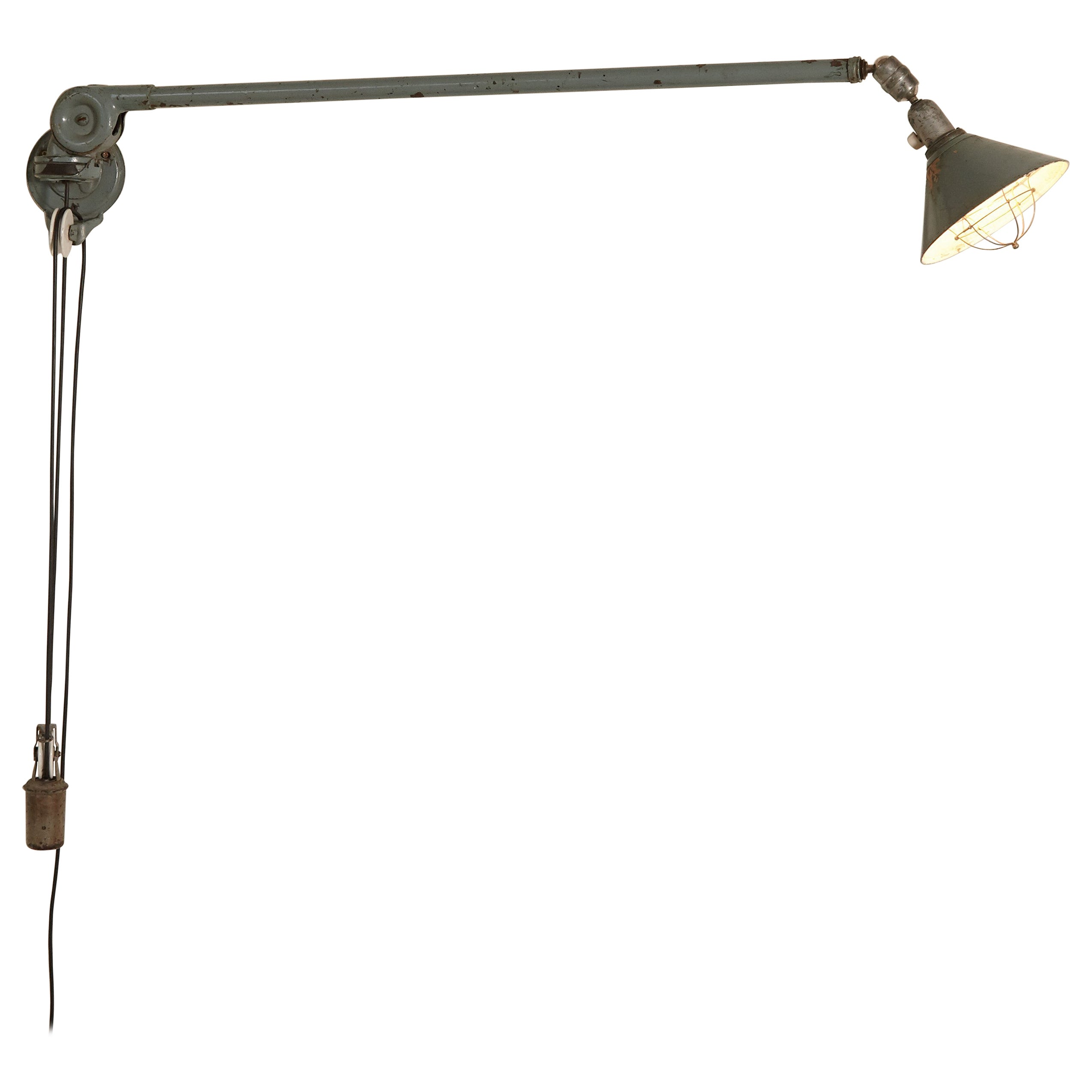 Early Johan Petter Johansson Industrial Triplex Telescopic Lamp, Sweden, 1910s