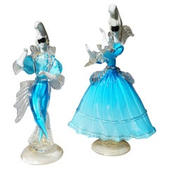 Beautiful Murano Glass Carnival Dancers