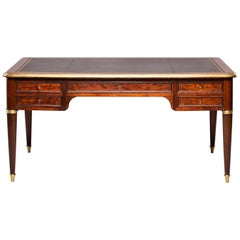 Louis XVI Partners Writing Desk With Leather Top
