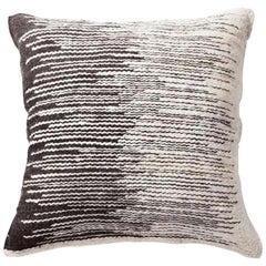 Handwoven Wool Throw Pillow in Ivory from Argentina, in Stock