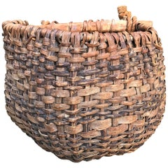 19th Century French Grape Gathering Basket