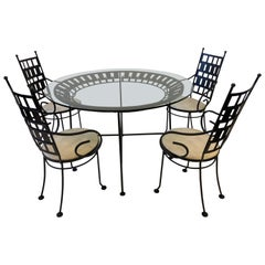 Black Outdoor Patio Set by Arthur Umanoff