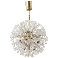 Sputnik Glass Flower Chandelier by Emil Stejnar for Rupert Nikoll, 1950s