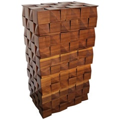 "Drawers Chest of Drawers  ""Checkered""  Massive Walnut Handmade"