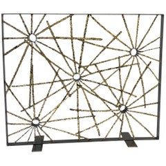 Studio Brutalist Starburst Fireplace Screen by John De La Rosa