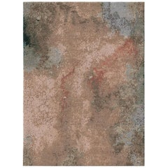 Kuninda Kingdom Coin Contemporary Art Hand-Knotted Wool and Silk 9x12 Rug
