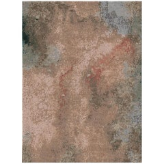 Kuninda Kingdom Coin Contemporary Art Hand-Knotted Wool and Silk 10x13,4 Rug