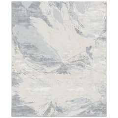 Multani Clay Large Contemporary Art Hand-Knotted Wool and Silk Rug