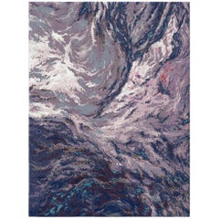 Ladakh Moonscape Contemporary Textured Hand-Knotted Wool and Silk 8x10 Rug
