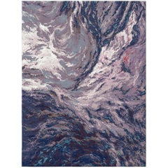 Ladakh Moonscape Contemporary Textured Hand-Knotted Wool and Silk 10x13,4 Rug