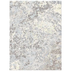 Zanskar Ageless Allure Contemporary Textured Hand-Knotted Wool and Silk 8x10 Rug