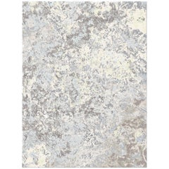Zanskar Ageless Allure Contemporary Textured Hand-Knotted Wool and Silk 9x12 Rug