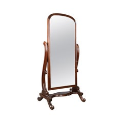 Vintage Cheval Mirror, English, Victorian Revival, Full Length Dressing