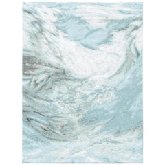 Sutlej Radiant Contemporary Textured Hand-Knotted Wool and Silk 8x10 Rug