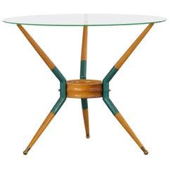 Italian Sofa Table on Three Legs, 1950s