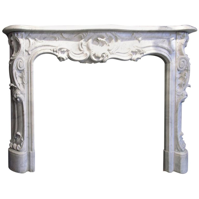 Exclusive Marble Fireplace Mantel, 19th Century