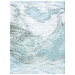 Sutlej Radiant Contemporary Textured Hand-Knotted Wool and Silk 9x12 Rug
