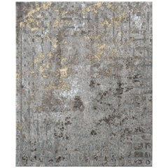 Meru North Contemporary Textured Hand-Knotted Wool and Silk 8x10 Rug