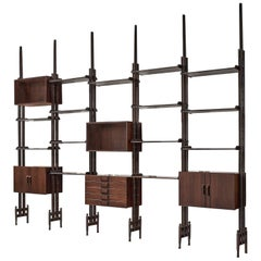 Italian Rosewood Wall Unit, 1955