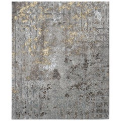 Meru North Contemporary Textured Hand-Knotted Wool and Silk 9x12 Rug
