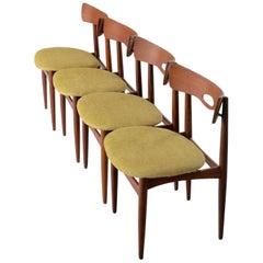 Four Teak Chairs by Arne Hovmand Olsen for Bramin