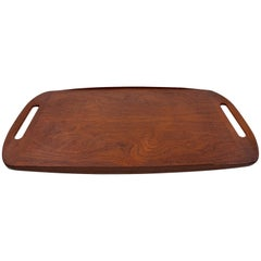 Large Danish Modern Teak Tray or Tea Platter Hand Made Midcentury, 1964