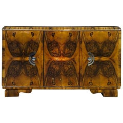 1920s Burl Art Deco Sideboard from France