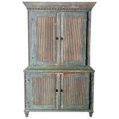 18th Century Swedish Gustavian Painted Cupboard