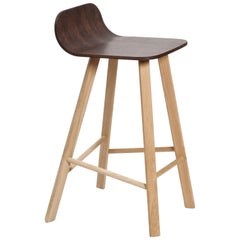Tria Stool Coffee by Colé, Minimalist Design Icon Inspired to Graphic Art