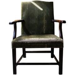George III Mahogany & Upholstered Open Armchair, circa 1790