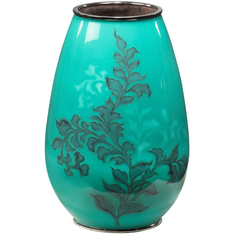 Showa Period Cloisonné Vase by Tamura