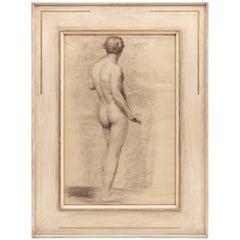 Male Nude Study by Alfred Wolmark 1877-1961